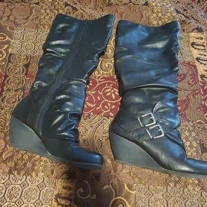 Blowfish wedge tall boots